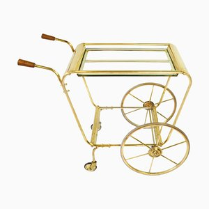 Mid-Century Swedish Brass Bar Cart, 1960s