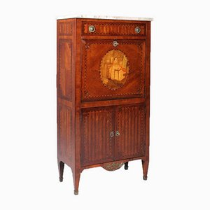 Small Antique Rosewood and Mahogany Secretaire, France, 1890