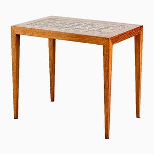 Danish Rosewood Side Table by Severin Hansen for Haslev Møbelsnedkeri, 1960s