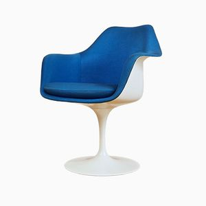 Blue Tulip Chair by Eero Saarinen for Knoll