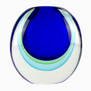 Pacifico Sommerso Vase in Murano Glass by Valter Rossi for Vrm