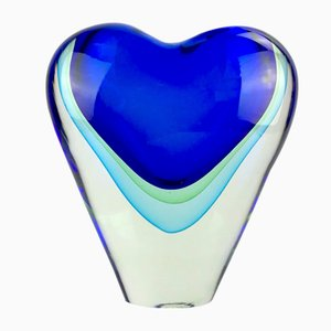 Cuore Sommerso Vase in Murano Glass by Valter Rossi for Vrm