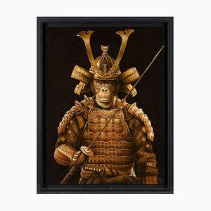 Marc Le Rest, Samurai Tokugawa, Huile sur Toile, 2019