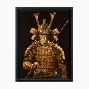 Marc Le Rest, Samurai Tokugawa, Öl auf Leinwand, 2019