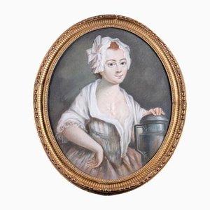 Peinture Ovale 18ème Siècle de Milk Girl