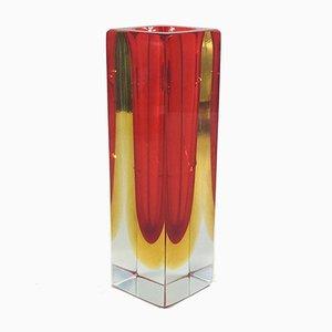 Jarrón de cristal de Murano Sommerso de Flavio Poli para Alessandro Mandruzzato, años 60