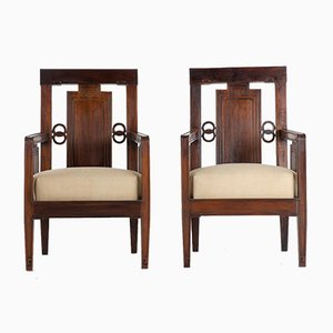 Chinese Rosewood Armchairs, 1940s, Set of 2