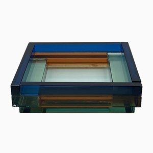 Italienischer Glas Tafelaufsatz von Ettore Sottsass für Fontana Arte, 1980er