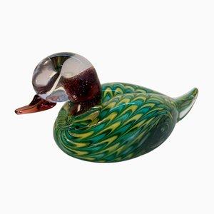 Mid-Century Small Italian Glass Duck Sculpture by Vetrarti for Maestro Murano