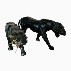 Jaguar Figurines, 1950s, Set of 2