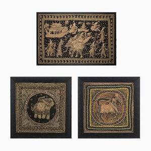 Mid-Century Decorative Wall Tapestries, Set of 3