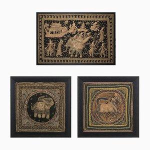 Tapisseries Murales Décoratives Mid-Century, Set de 3