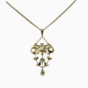 Antique Edwardian Peridot Necklace