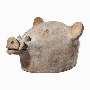 Ceremonial Terracotta Pig's Head, Mozambique