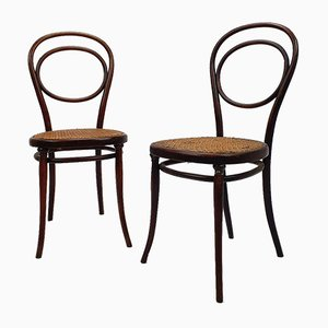 Antique Rosewood No. 10 Side Chairs by Michael Thonet for Gebrüder Thonet Vienna GmbH, 1890s, Set of 2