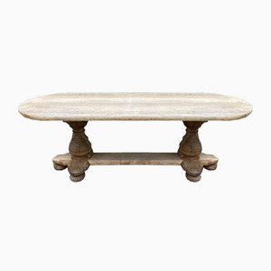 Large Antique French Oak Monastery Dining Table