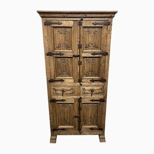 Antique French Gothic Oak Cupboard