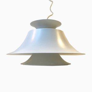 Vintage Danish White Pendant Ceiling Lamp from Jeka, 1970s