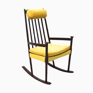 Beechwood Scandinavian Rocking Chair, 1960s