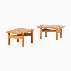 Model 5273 Side Tables / Benches by Børge Mogensen for Fredericia Furniture, Set of 2