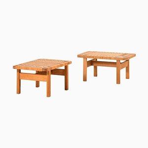 Modell 5273 Beistelltische / Bänke von Børge Mogensen für Fredericia Furniture, 2er Set