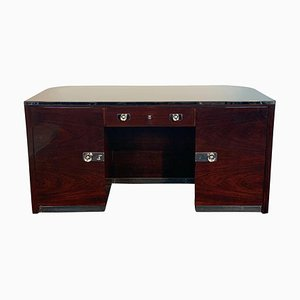 Bauhaus Desk by Erich Diekmann with Rosewood Veneer, Germany, 1920s