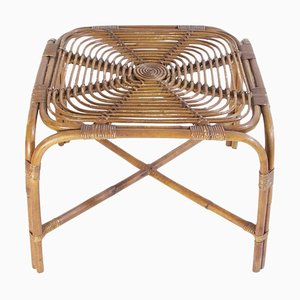 Mid-Century Bamboo Table in the Style of Franco Albini, Italy