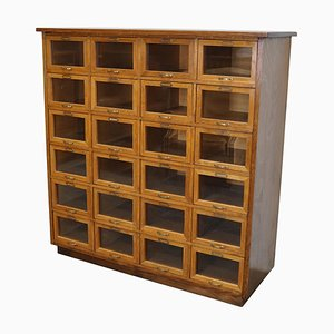 Vintage Dutch Oak Haberdashery Shop Cabinet, 1930s