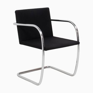 Brno Black Fabric Tubular Dining Chairs by by Mies van der Rohe for Knoll