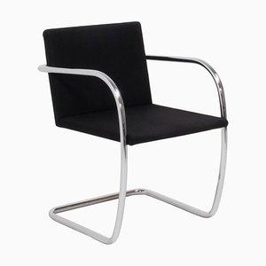 Chaises de Salon Brno en Tissu Noir par by Mies van der Rohe pour Knoll