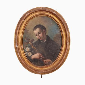 San Luigi Gonzaga, Öl auf Leinwand