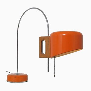 Orange Table Lamp by Tomas Diaz Magro for Fase, Spain, 1960s