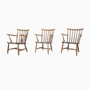 Scandinavian Spindle Back Armchair, 1960s