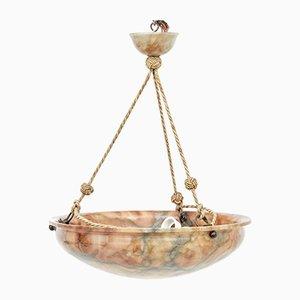 Art Deco Alabaster Dish Deckenlampe