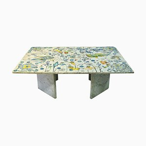 Rectangular Marble Table by Jan Tom Van den Bergen, 1984