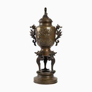 Perfume Burner in Patina Bronze, 1900s