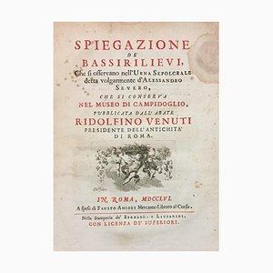 Ridolfino Venuti, Explicación de Bassirelievi Urn That of Alexander Severus, 1756