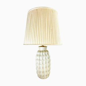 Organische Art Deco Keramik Tischlampe von Upsala Ekeby, Schweden