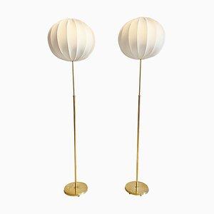 Mid-Century Brass Floor Lamps from Bergboms, Sweden, 1960s, Set of 2