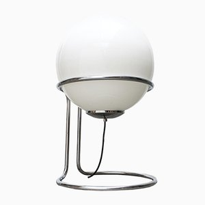 Vintage Space Age Chrome and Glass Ball Floor Lamp