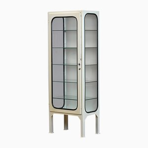 Vintage Medical Cabinet with Five Glass Shelves, 1970s