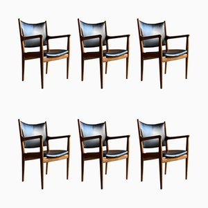 JH713 Dining Chairs by Hans J. Wegner for Johannes Hansen, 1957, Set of 6