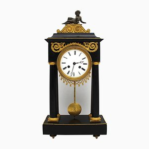 18th Century Gilt Bronze and Marble Clock