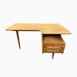 Wooden Desk by Jacques Hauville, 1950s