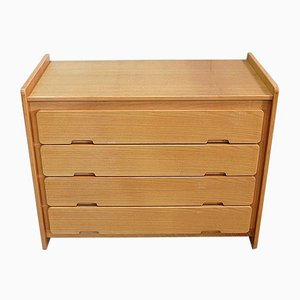 Small Solid Ash Chest of Drawers, 1970s