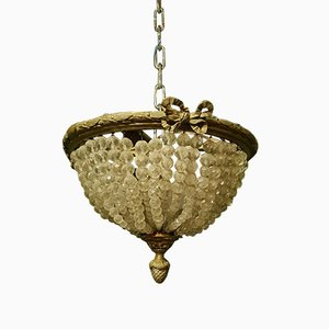 Antique French Bronze Ceiling Lamp