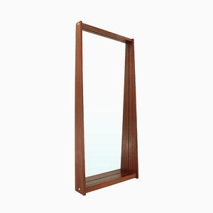 Specchio rettangolare con cornice in teak, anni '50