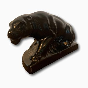 Earthenware Panther from Dubois, 1920s