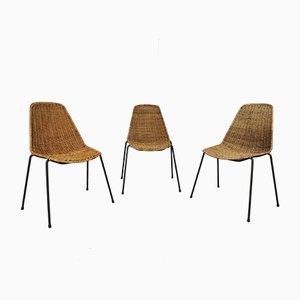 Chaises de Salon Mid-Century par Gian Franco Legler, Set de 3