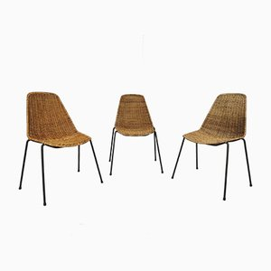 Mid-Century Esszimmerstühle von Gian Franco Legler, 3er Set